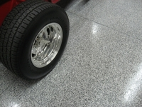 Showroom floor coatings