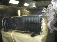 PCS truck bedliner application